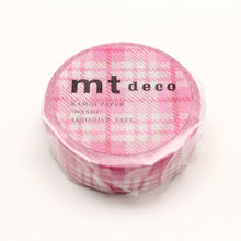 Load image into Gallery viewer, MT Check Light Pink washi tape (MT01D420)