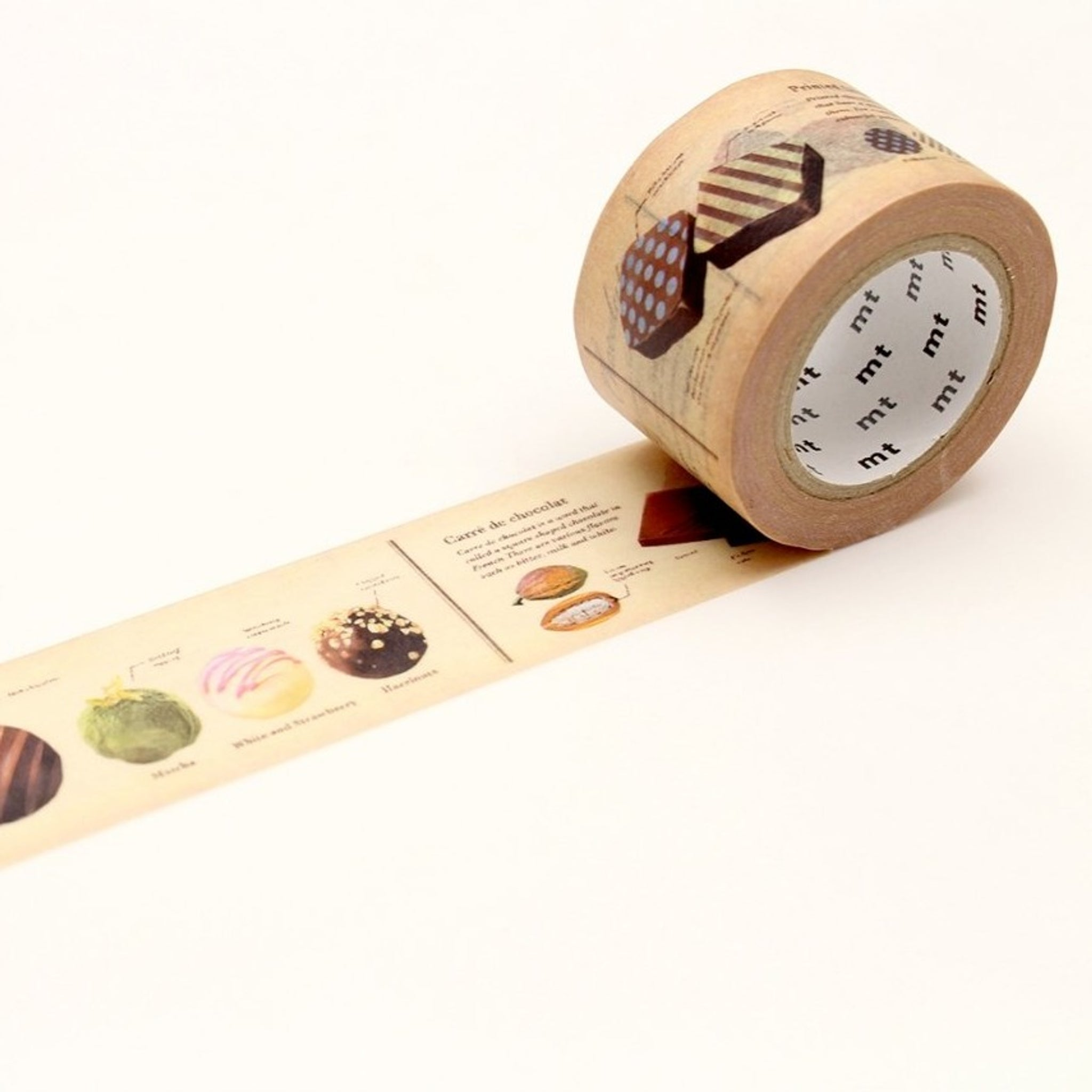 MT EX Washi Tape Encyclopedia Chocolate