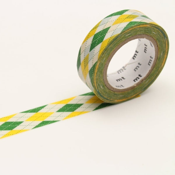MT Argyle Green washi tape (MT01D163)