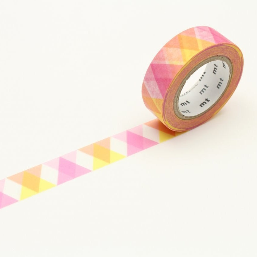 MT Triangle And Diamond Pink washi tape (MT01D335)