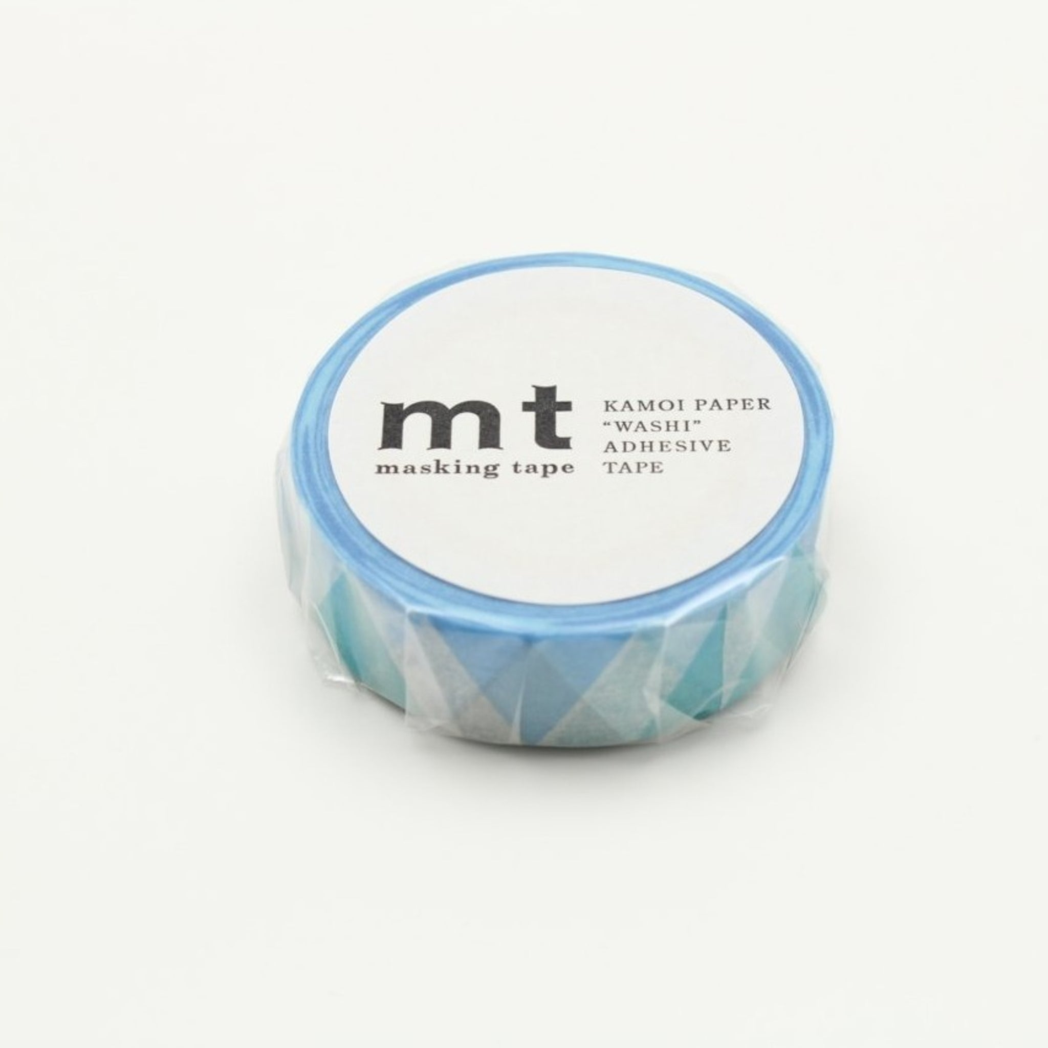 MT Deco Washi Tape Triangle And Diamond Blue