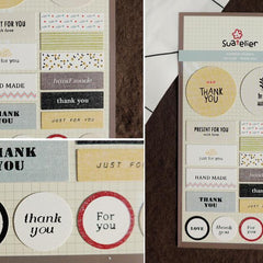 Suatelier Thank You sticker