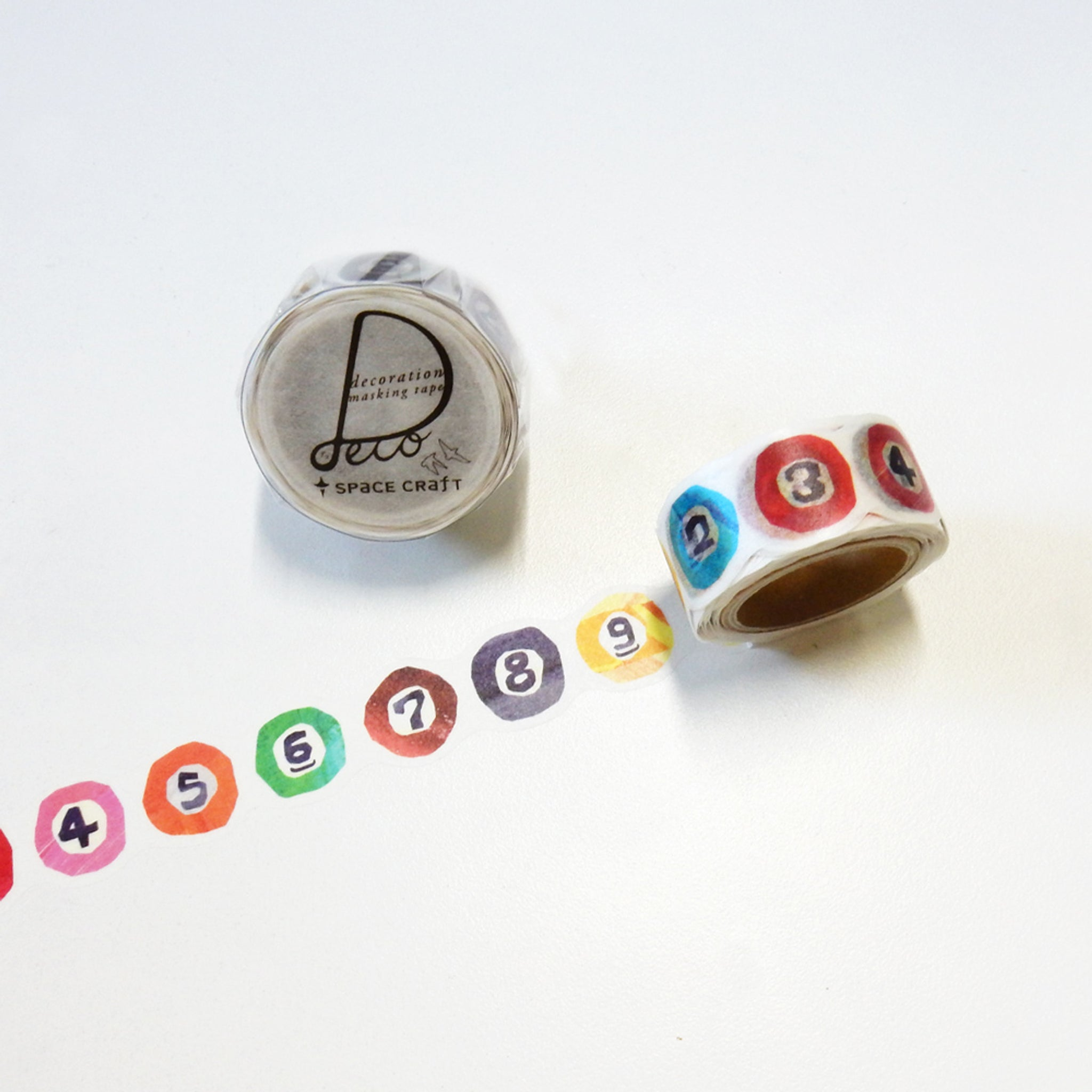 Round Top x Space Craft Washi Tape 9-Ball