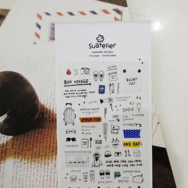 Suatelier Travel Note sticker (1057)