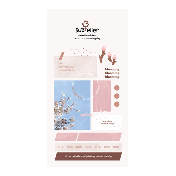 Suatelier Blooming Day Sticker