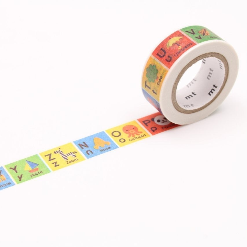 MT Alphabet N-Z washi tape (MT01KID014)