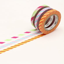 Load image into Gallery viewer, mt slim twist cord B washi tape set of 3 (MTSLIM11)