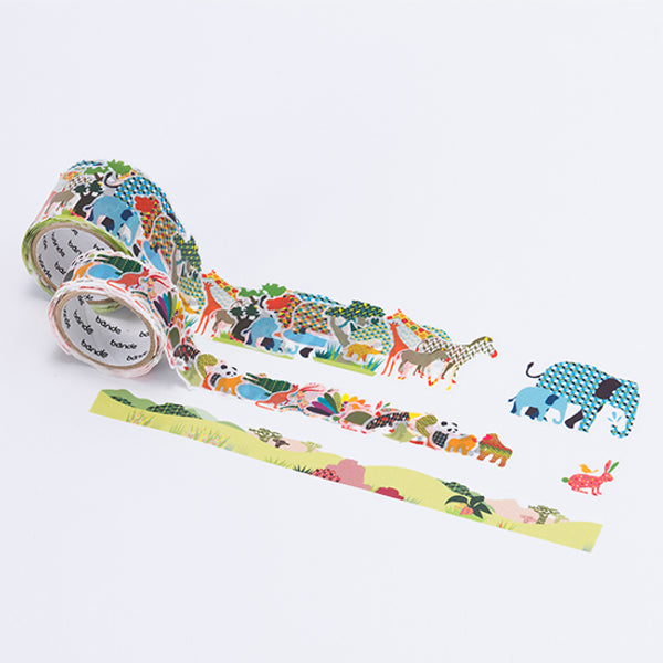 Bande Wild Life Washi Roll Sticker - MOMOQO