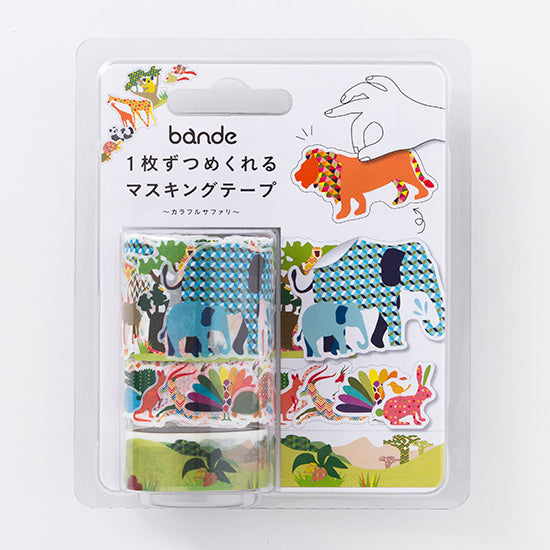 Bande Wild Life Washi Roll Sticker - Cityluxe