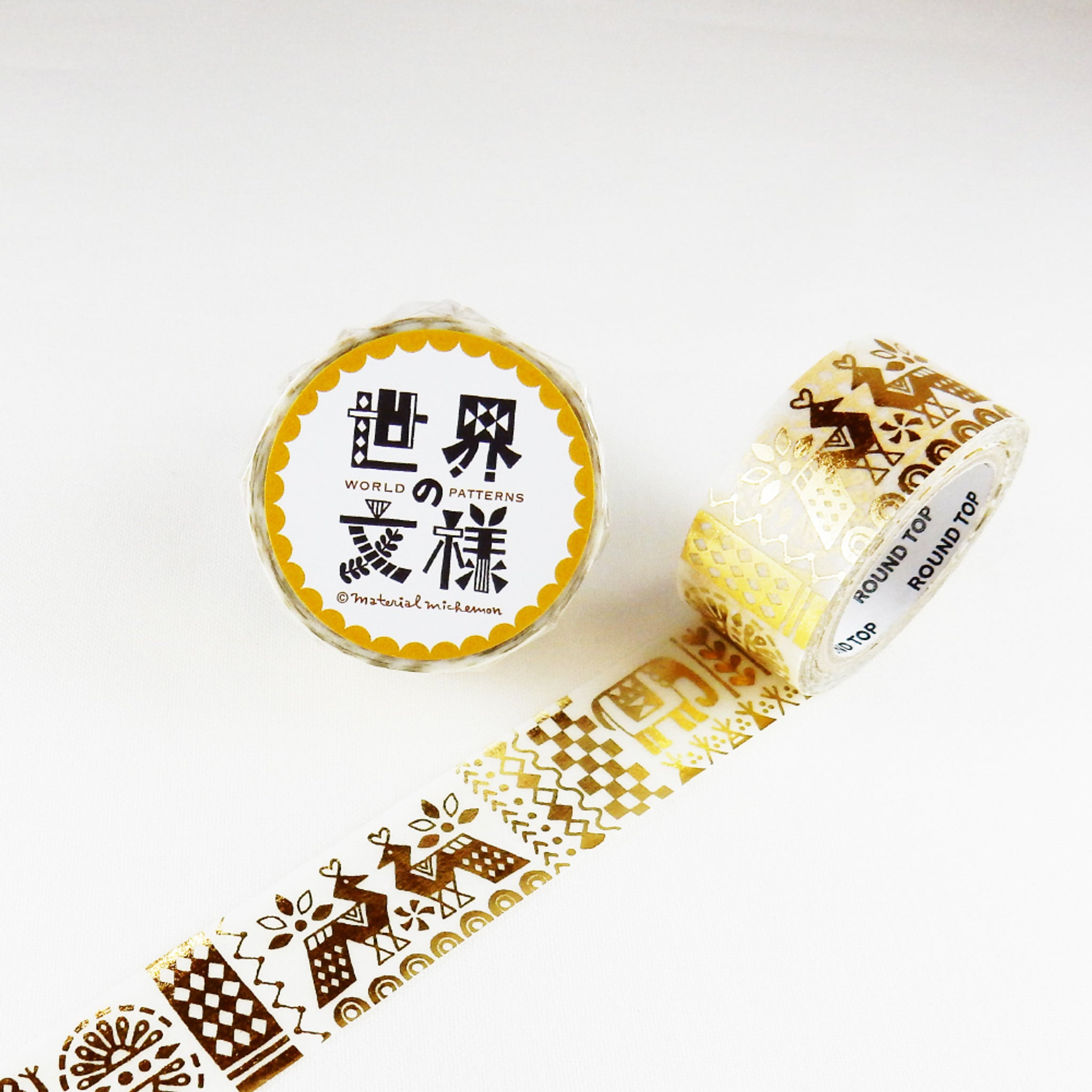 Round Top x Material Michemon India (Gold Leaf) Washi Tape