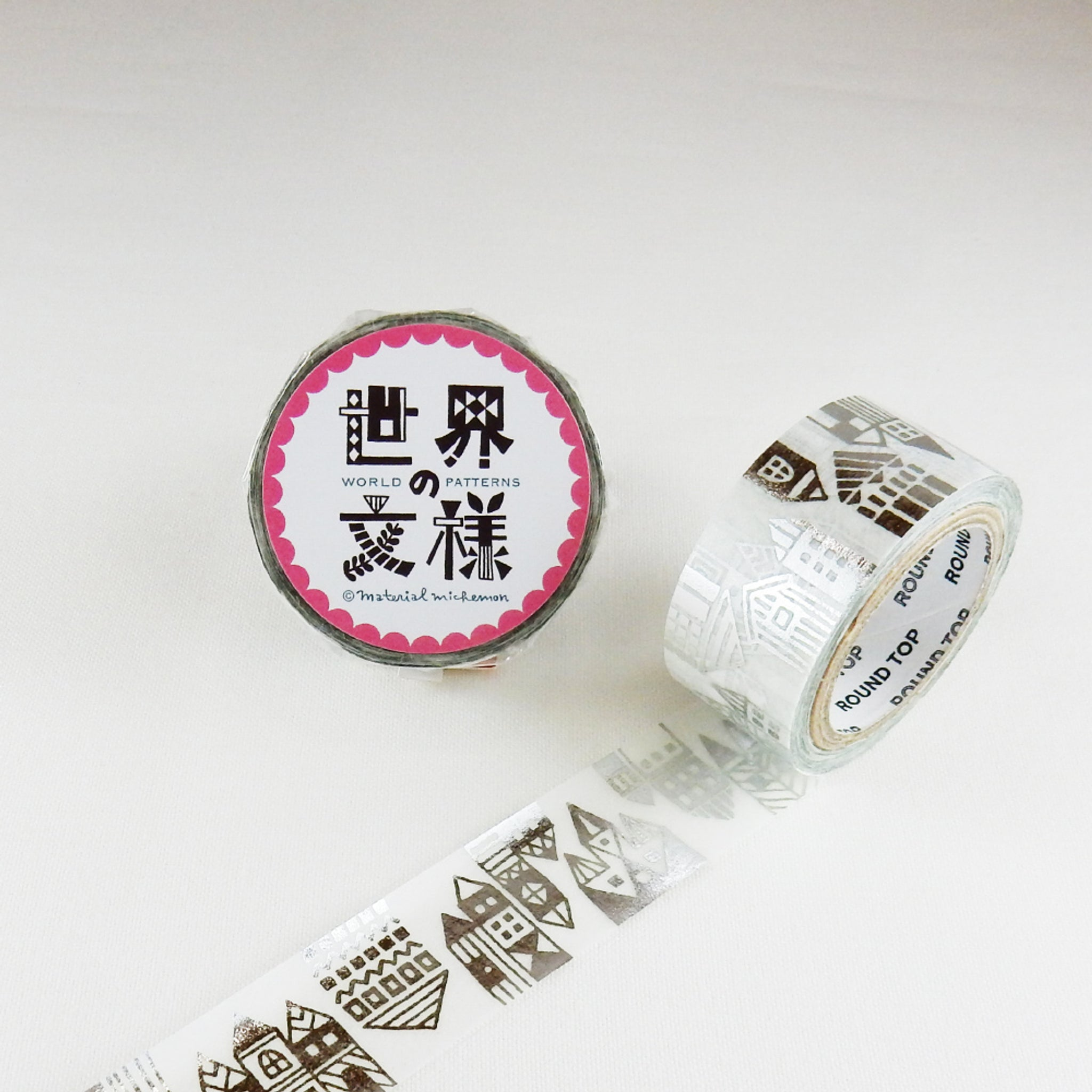 Round Top x Material Michemon Scandinavia (Silver Foil) Washi Tape
