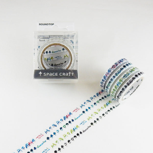 Round Top x Space Craft Washi Tape Set of 4 - Faces