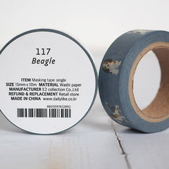 Dailylike 117 Beagle 15mm Masking Tape