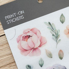 Mu Craft Print-On Sticker Spring Flower 011