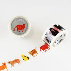 Round Top x Soupy Tang Cat Washi Tape