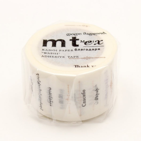 "MT EX Washi Tape ""Thank You"" In The World"