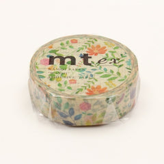 MT EX Washi Tape Watercolor Flower