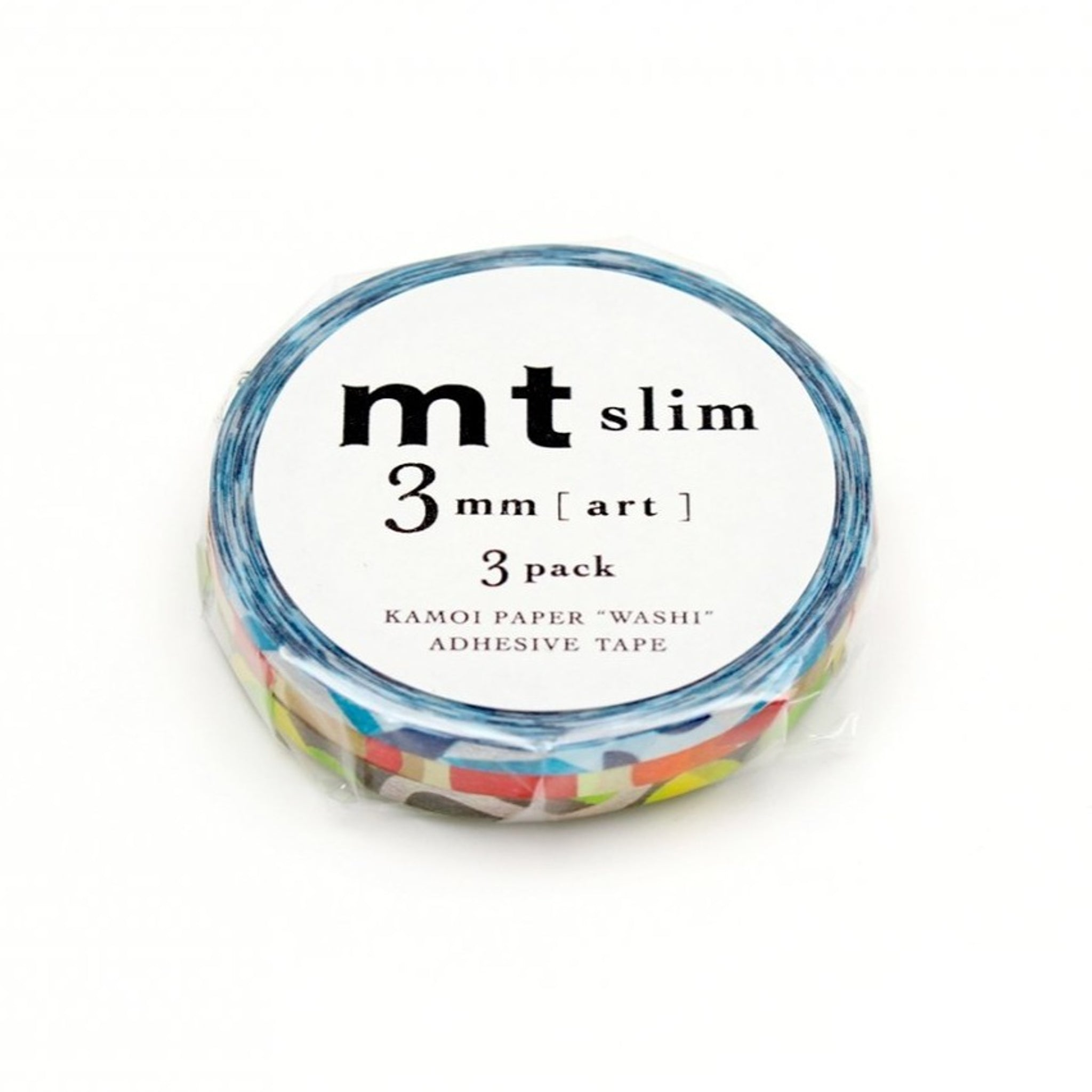mt slim 3mm art washi tape set of 3