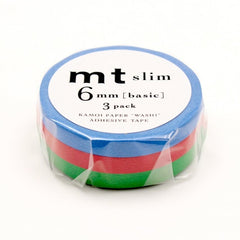 MT Slim 6mm Washi Tape Set H