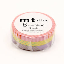 Load image into Gallery viewer, mt slim deco A washi tape set of 3 (MTSLIM16)