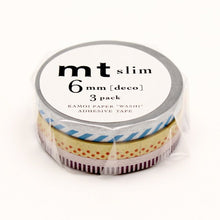 Load image into Gallery viewer, mt slim deco C washi tape set of 3 (MTSLIM18)