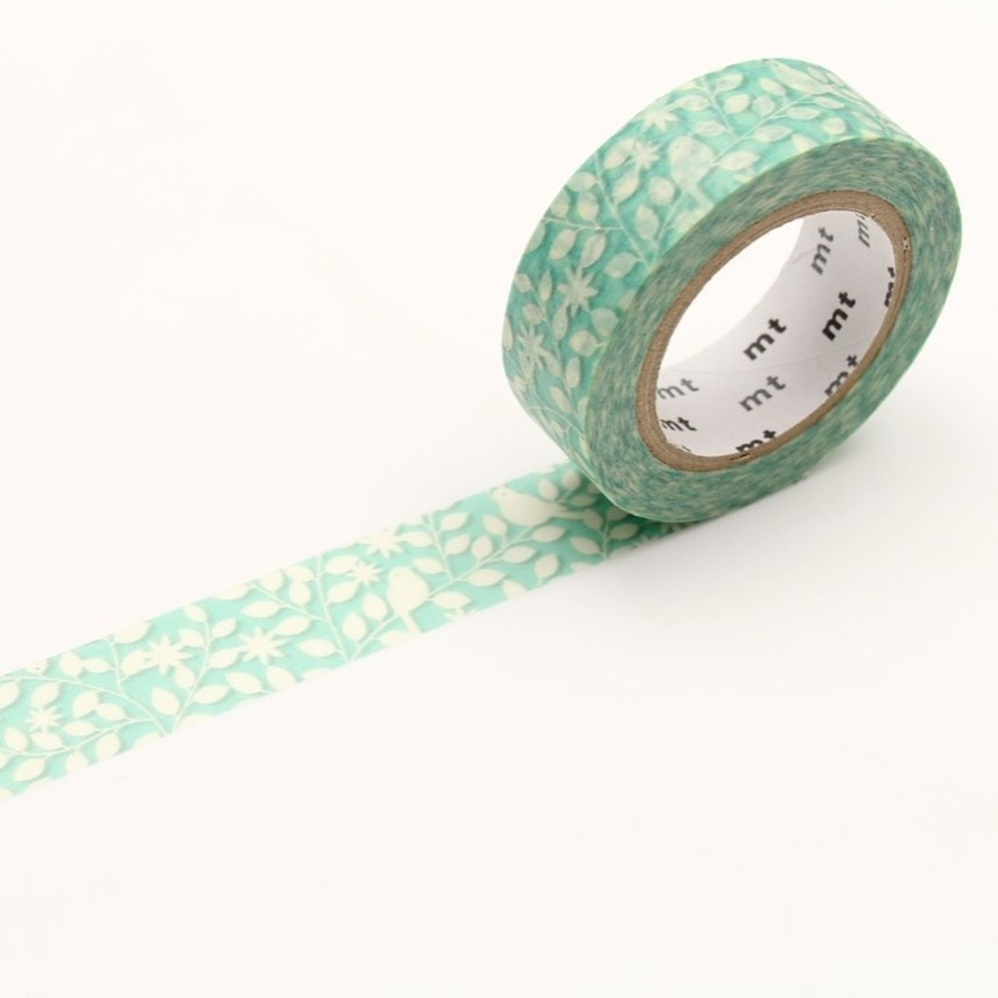 MT EX Washi Tape Cutout Leaf And Bird