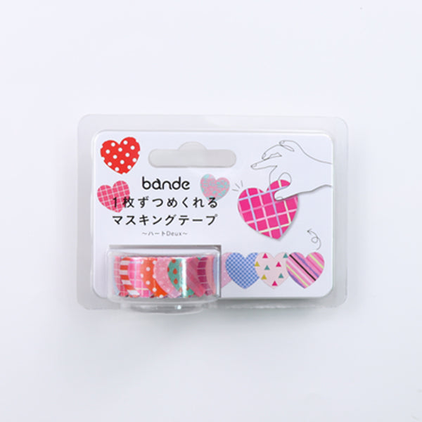 Bande Heart Deux Washi Roll Sticker