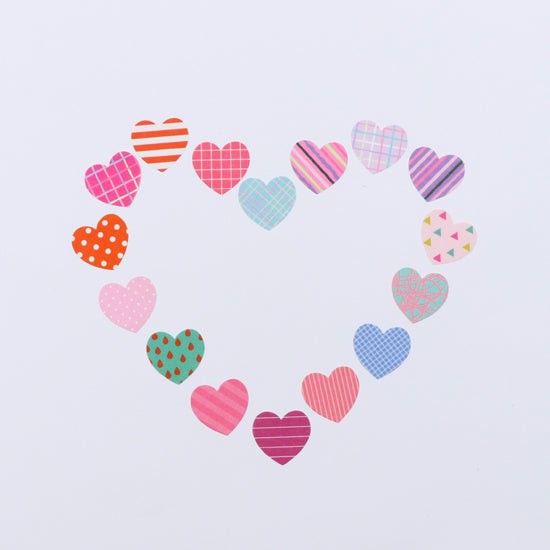 Bande Heart Deux Washi Roll Sticker - Cityluxe