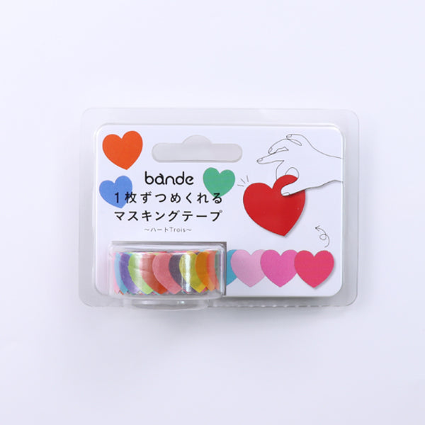 Bande Heart Trois Washi Roll Sticker - MOMOQO