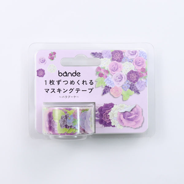 Bande Rose Bouquet Washi Roll Sticker - MOMOQO