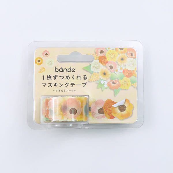 Bande Anemone Bouquet Washi Roll Sticker - MOMOQO