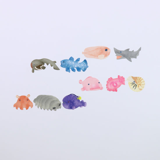 Bande Deep Sea Fish Roll Sticker - Cityluxe