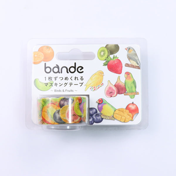 Bande Birds & Fruits Washi Roll Sticker - MOMOQO