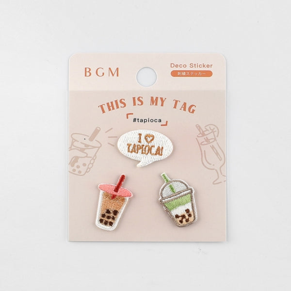 BGM Embroidery Sticker Tapioca