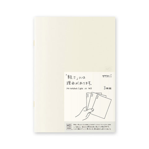 MD Notebook Light A5 - Blank (3pcs/pack)