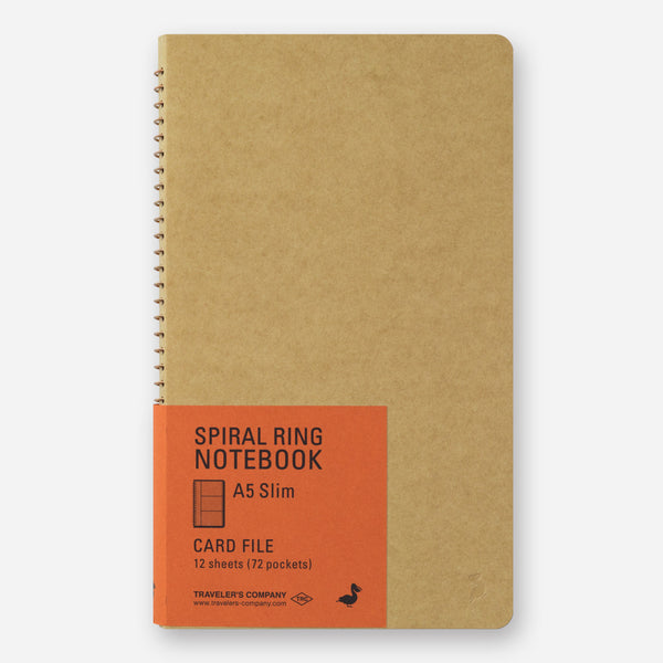 Traveler's Company Spiral Ring Notebook <A5 Slim> Card File
