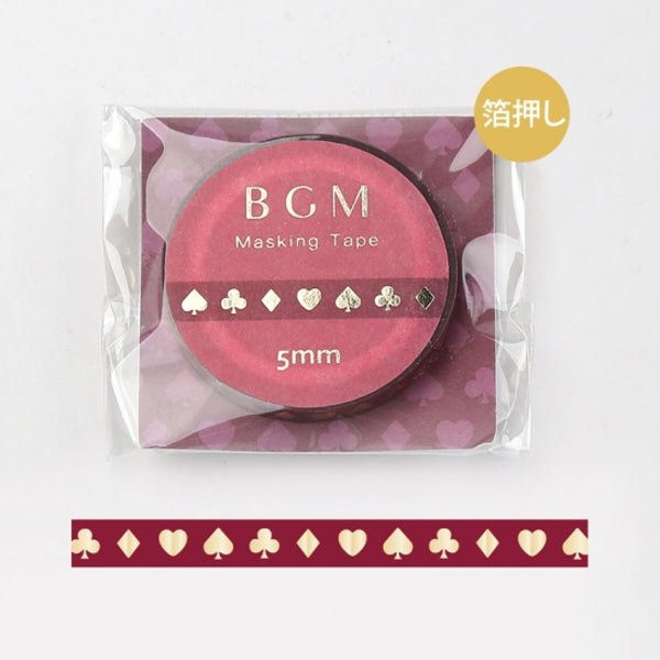 BGM Red Playing Cards Washi Tape