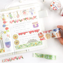 Load image into Gallery viewer, BGM Colorful Heart Washi Tape