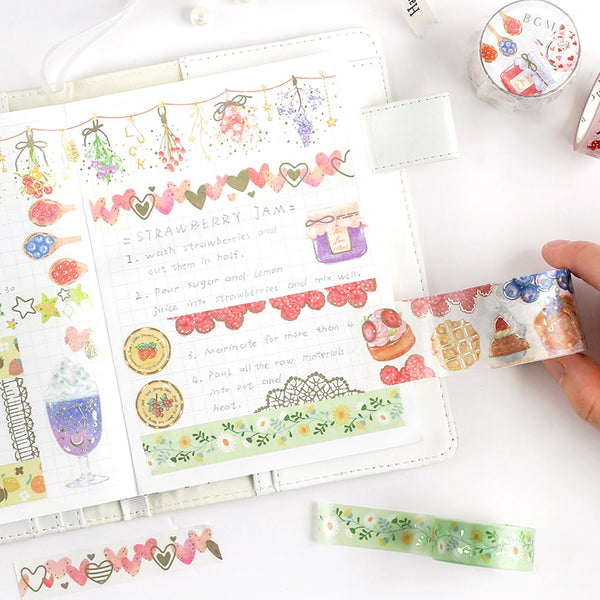 BGM Colorful Daisies Washi Tape