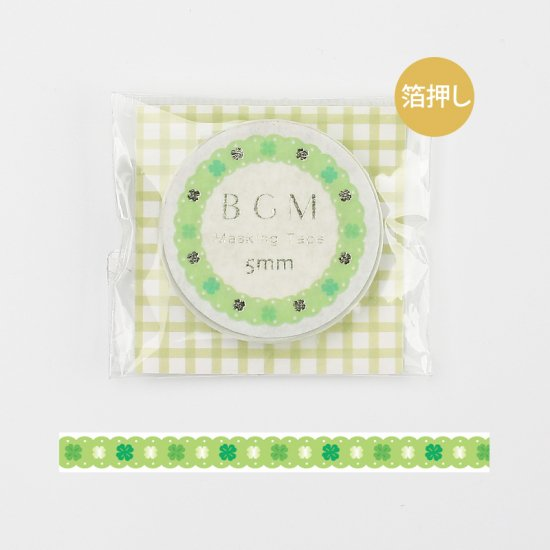 BGM Green Lace Washi Tape