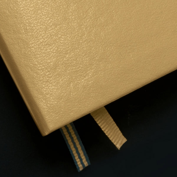 Leuchtturm1917 Metallic Edition A6 Pocket Notebook Gold - Ruled