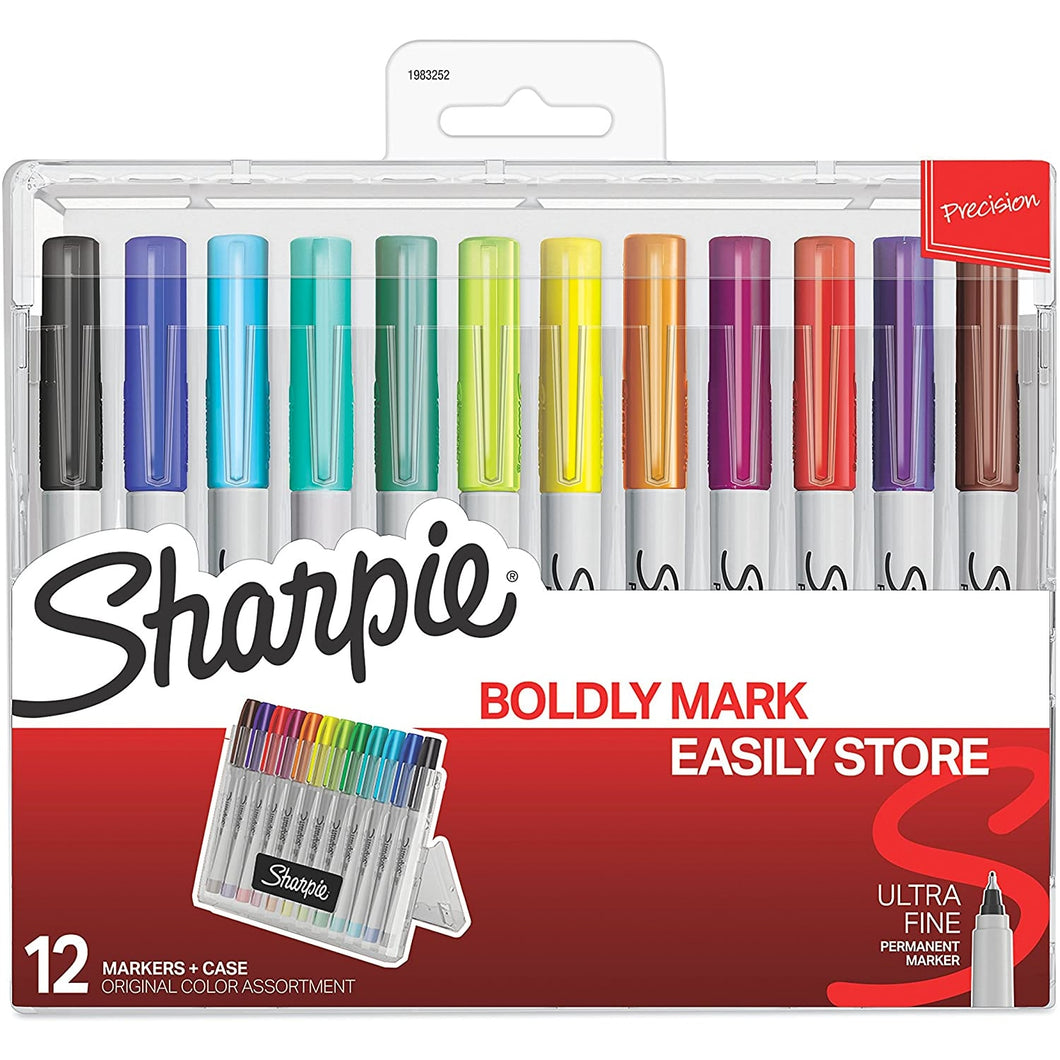Sharpie® Ultra-Fine Marker Pack of 12 with Case