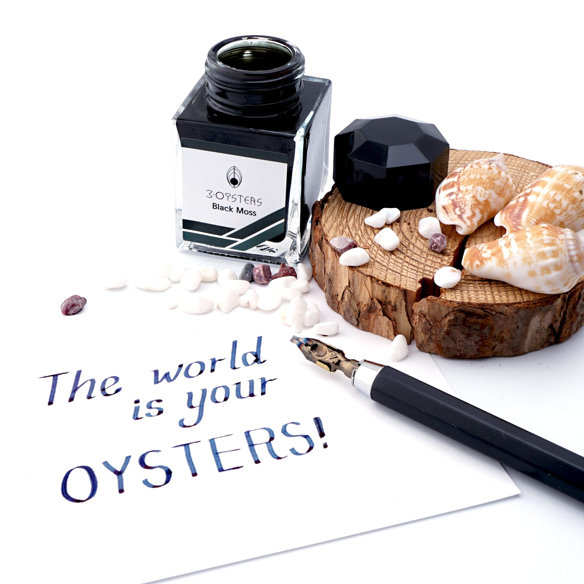 3 Oysters Delicious 38ml Ink Bottle Black Moss