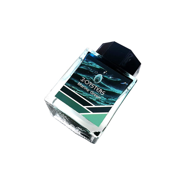 3 Oysters 38ml Ink Bottle Special Edition Marine Green - Cityluxe