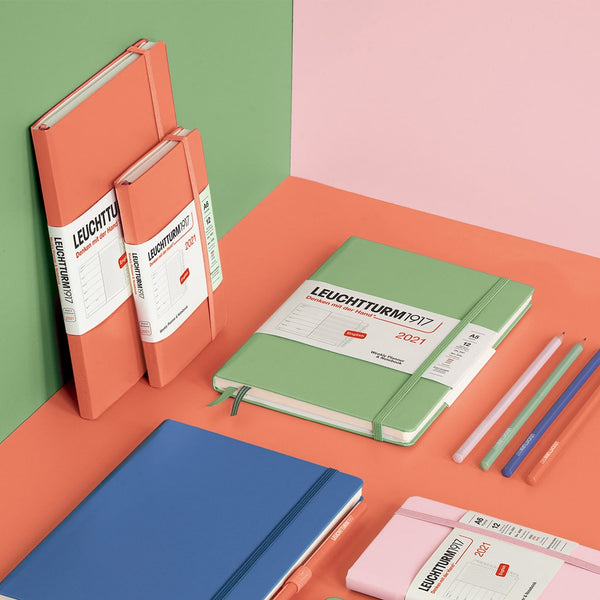 Leuchtturm1917 A5 Medium Weekly Planner & Notebook 2021 - Anthracite