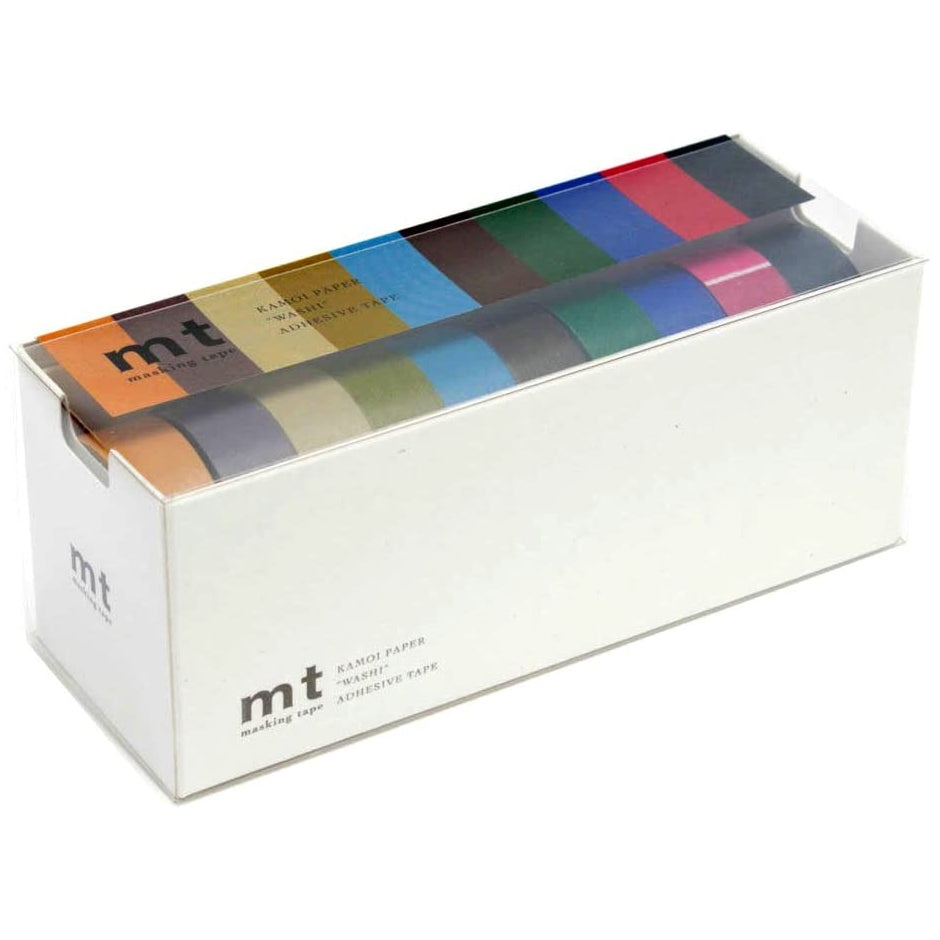 MT 10 Colours Washi Tape Set Dark
