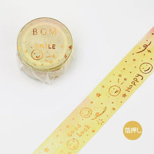 Load image into Gallery viewer, BGM Yellow Smile Washi Tape