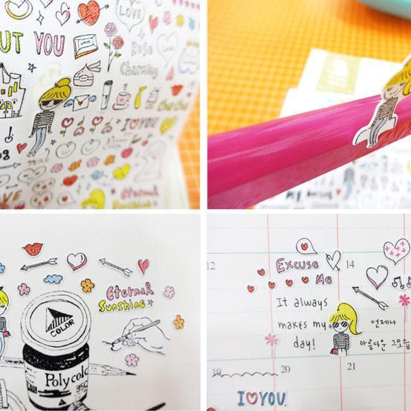 Suatelier Drawing Love sticker