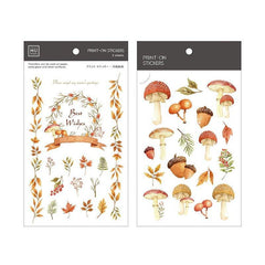 Mu Craft Print-On Sticker Mushroom 031