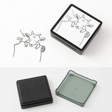 Load image into Gallery viewer, Midori Paintable Stamp Pre-inked Goat